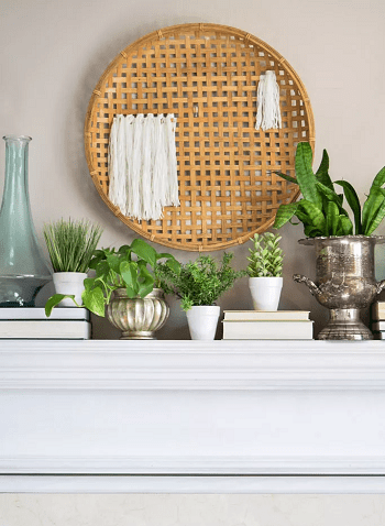 Diy woven basket wall hanging Most Wanted DIY Wall Decor Ideas To Beat Your Blank Walls For Good