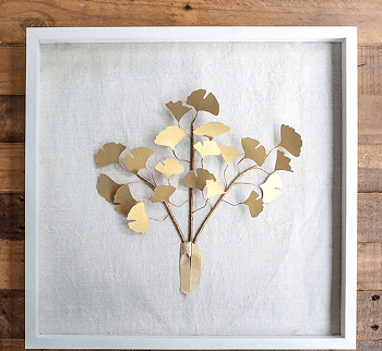 Framed gingko branches Most Wanted DIY Wall Decor Ideas To Beat Your Blank Walls For Good