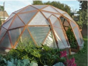 Geodome greenhouse diy