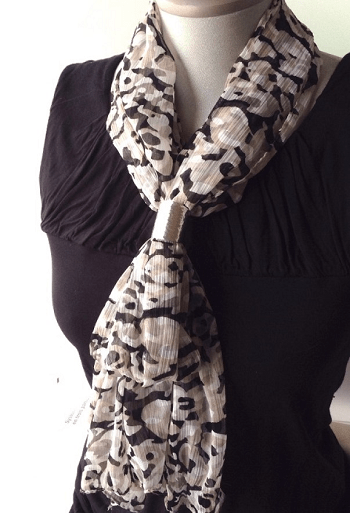 Scarf ring Special Ways To Use Napkin Ring As Your DIY Project