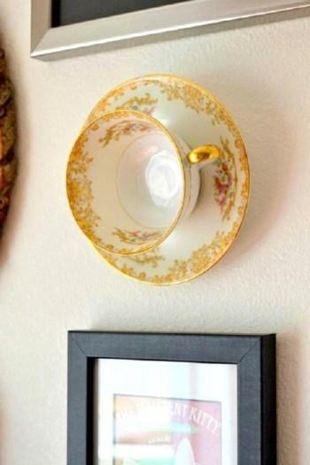 Teacup wall art