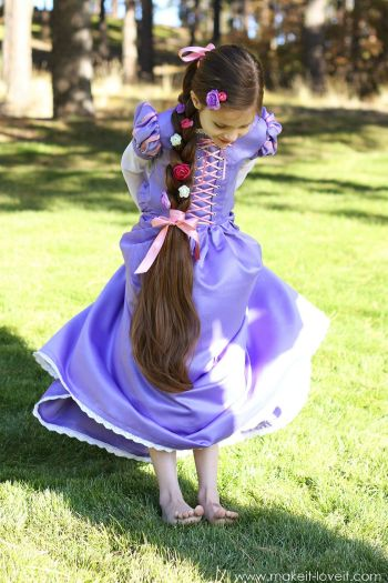 Beautiful princess rapunzel costume
