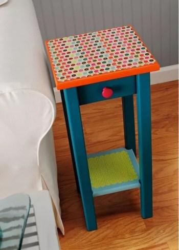 Cute decoupage side table