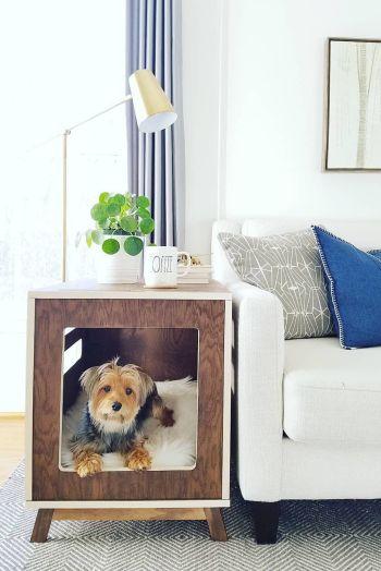 Diy dog bed side table