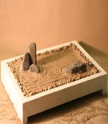 Desktop zen garden DIY Zen Garden In Mini Style To Create For Fresh Desk