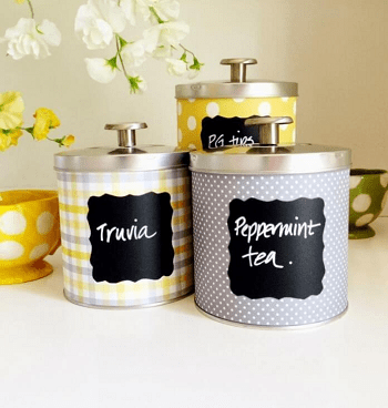 Kitchen canisters from home cooked meals Turn Trash To Treasure Projects From Tin Can That Also Appealing