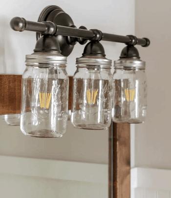 Mason jar bathroom vanity light DIY Bathroom Light Fixture You Can Easily Create At Home