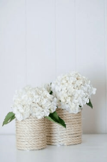 Nautical tin can rope vase Turn Trash To Treasure Projects From Tin Can That Also Appealing