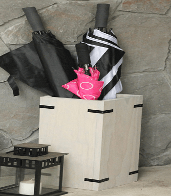 One board umbrella stand DIY Aesthetic Umbrella Stand Ideas To Create Yourself For Hallway