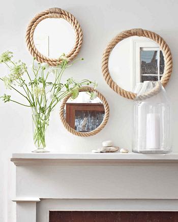 Rope decor DIY Smashing Wall Art Ideas As Your Homemade Bathroom Project