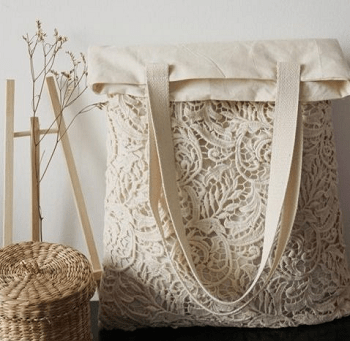 Tote old wedding dress DIY Creative Ideas To Reuse Your Old Wedding Dress