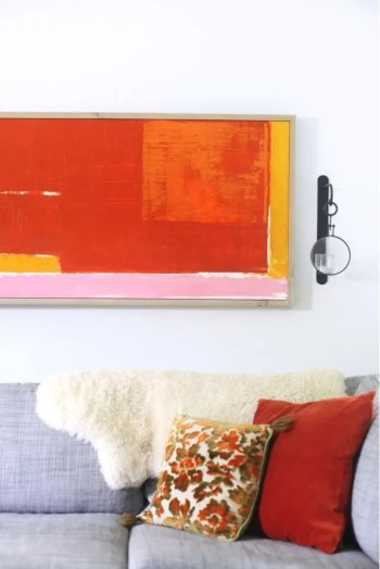 Abstract artwork on the wall