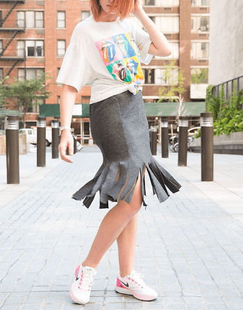 Carwash pleat skirt Ridiculous Easy DIY To Transform Last Year's Clothes Into Fall's Hottest Trends