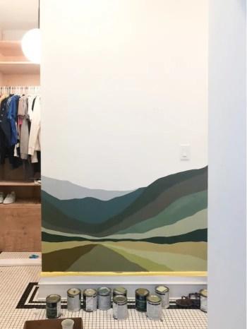 Create beautiful wall mural