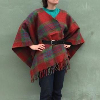 Diy belted blanket coat