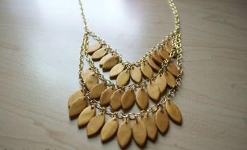 Diy polymer clay statement necklace