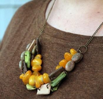 Fall diy chunky necklace