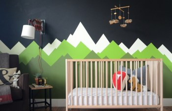 Mountains wall decal