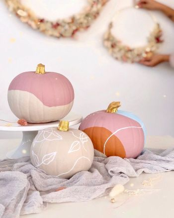 Pumpkins with a pop of paint