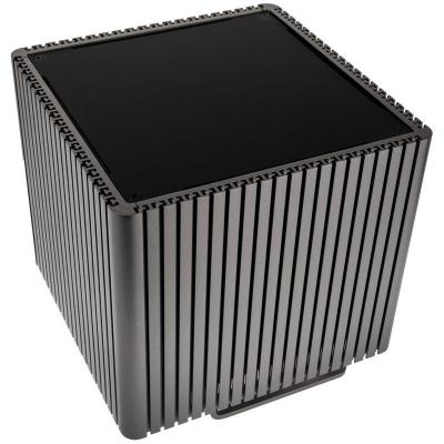 streacom db4 fanless cube case titanio