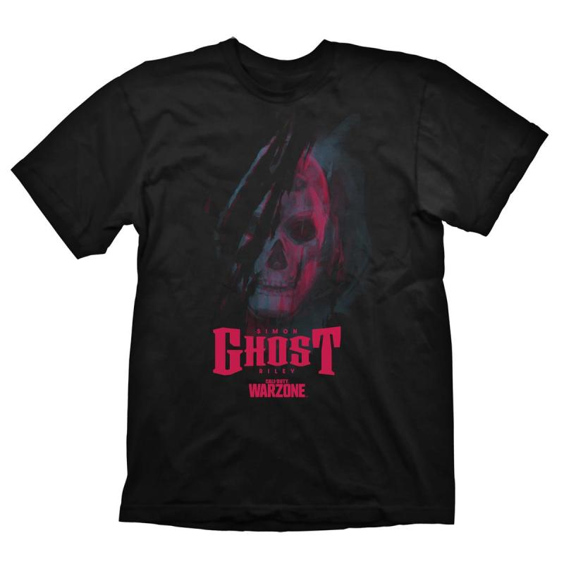 call of duty warzone t shirt ghost nera