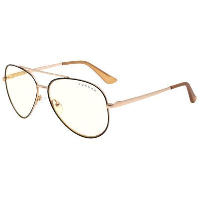 gunnar optiks maverick occhiali per computer lente trasparente nero oro