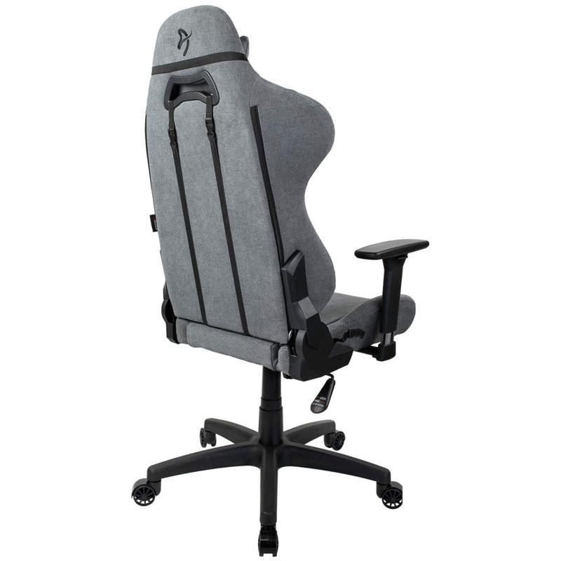arozzi torretta gaming chair tessuto da tappezzeria grigio chiaro