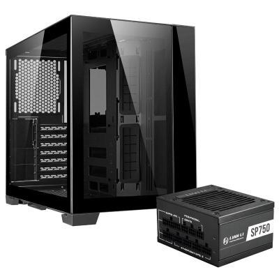 lian li o11 dynamic mini midi tower con alimentatore 750 watt nero