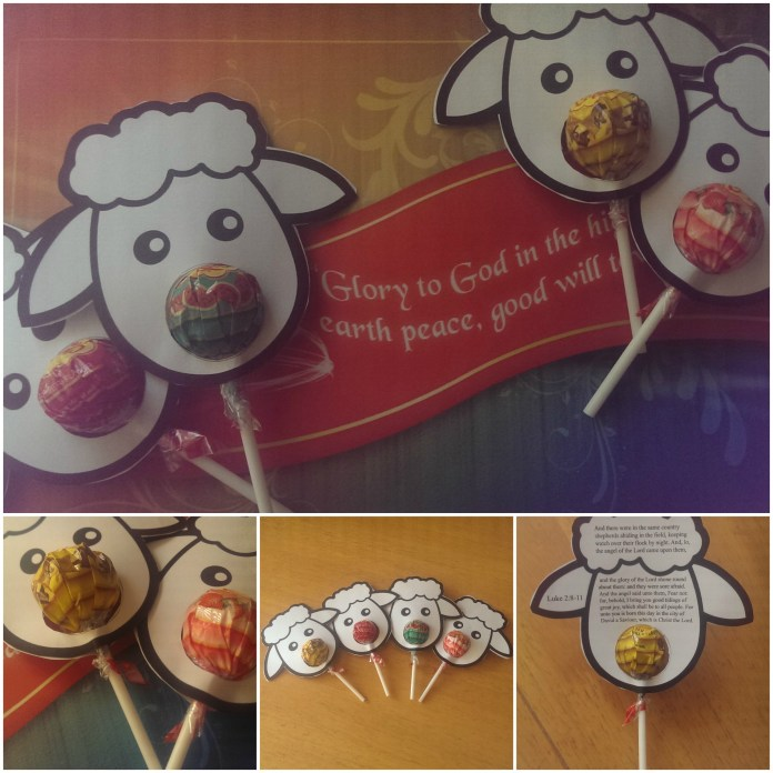 Cute Christmas Sheep Craft for Kids with Chupa Chups