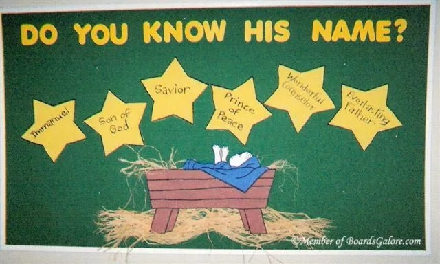 Christmas Bulletin Board 6 Names Of Christ