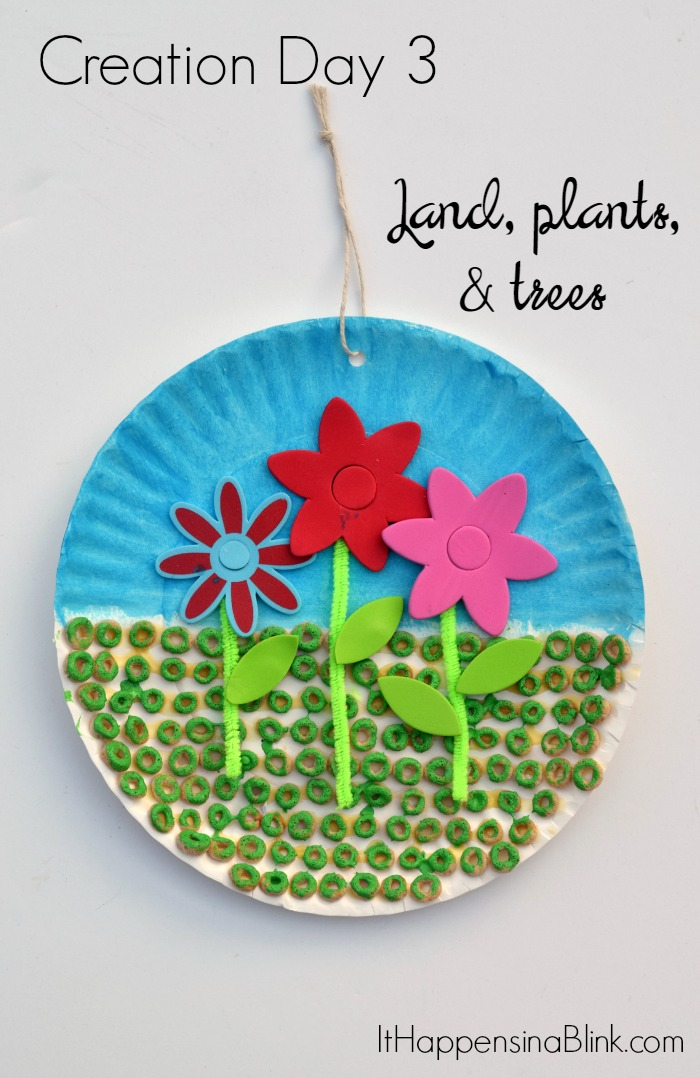 Paper Plate Craft - Plants