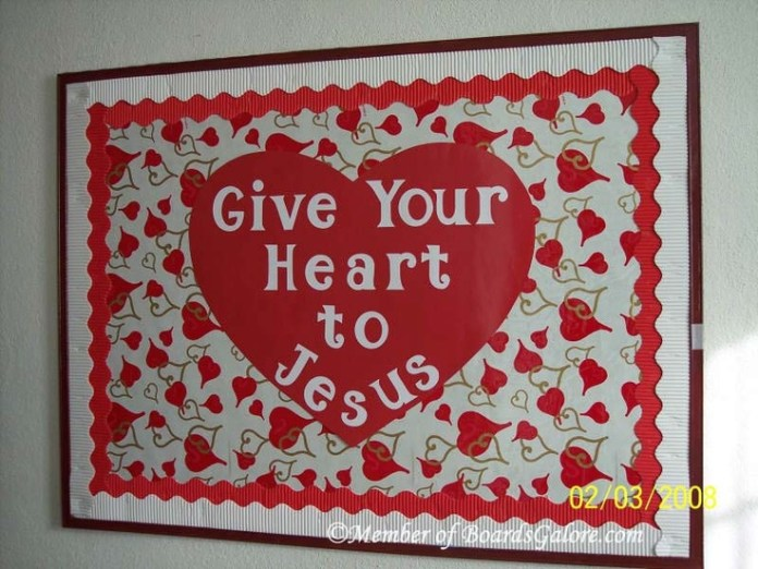 Give your heart to Jesus Valentine Bulletin Board