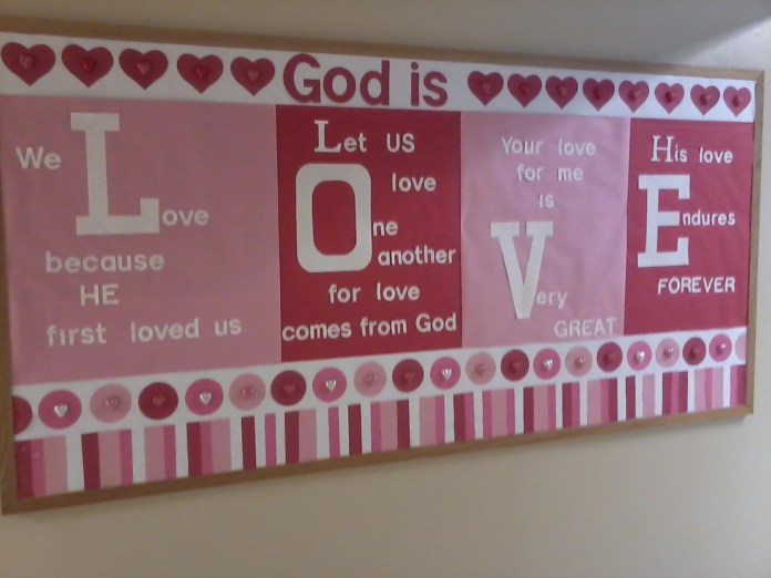God is Love Bulletin Board