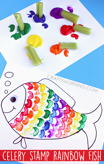 Celery Stamp Rainbow Fish