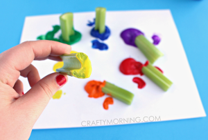Celery Stamping Rainbow Children's Craft
