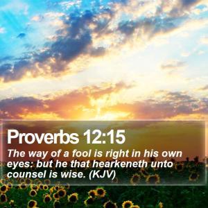 Proverbs 12:15