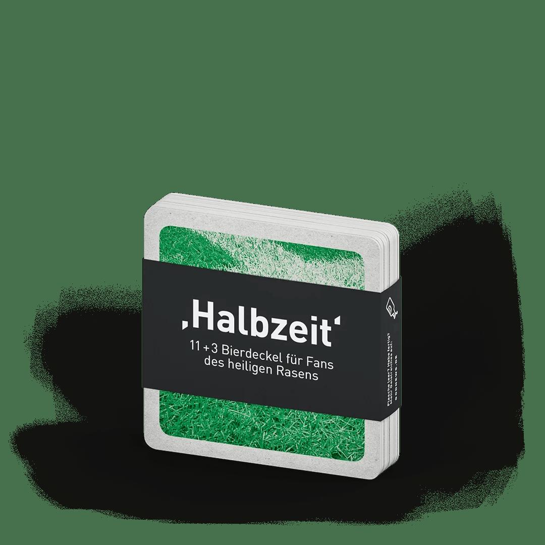 Halbzeit, Bierdeckel Set, godnews, gobasil, Heiliger Rasen, Bibel, seelige Fußballfans, Fußballbegriffe, Bundesliga, WM, Public Viewing