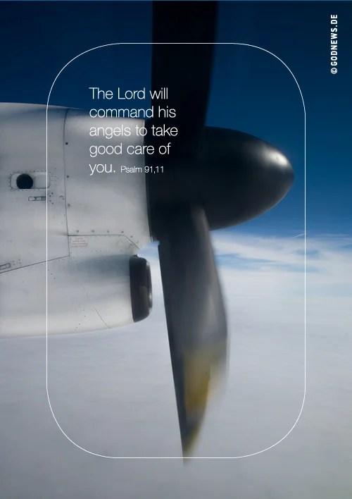 Goodies, Beistand, Engelsflügel, Gott, Propeller, Psalm, Wolken
