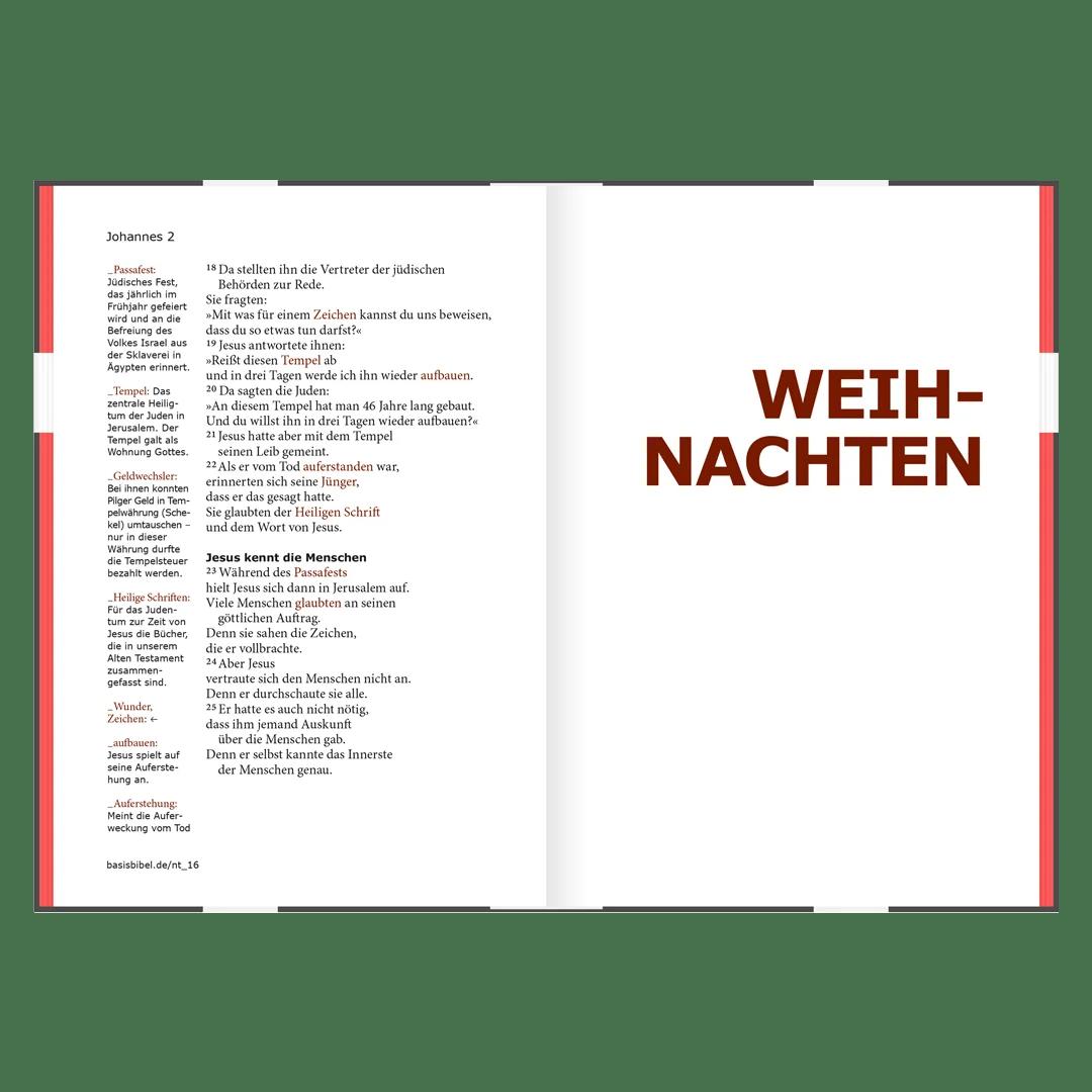 BasisBibel, Bibel, Typografie, godnews