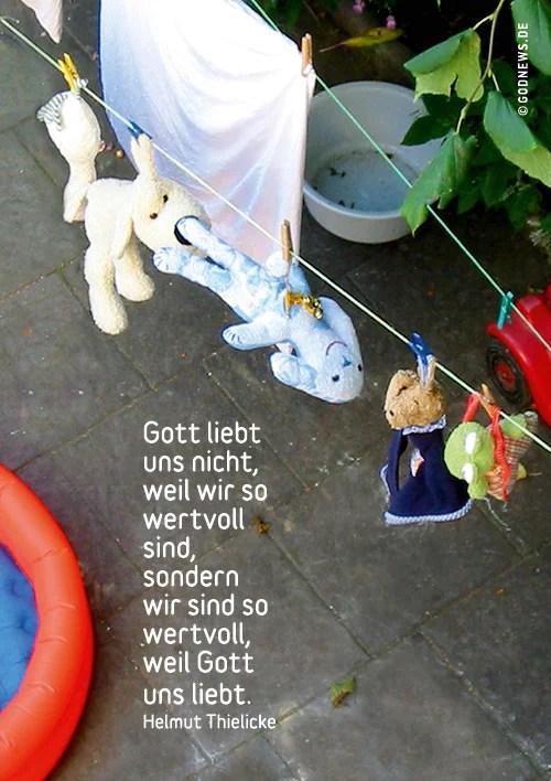 Alltag, Gelassenheit, Helmut Thielicke, Königskinder, Überzeugung, Wäscheleine