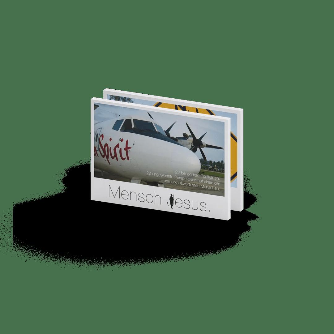 Mensch Jesus, godnews, Postkartenbuch, Produktabbildung