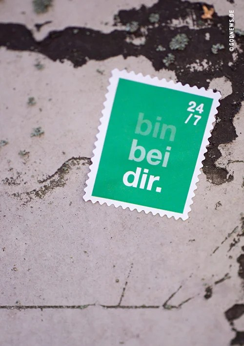 Alltagstourist, Goodies, Eva Jung, Sticker, Bin bei dir 24/7