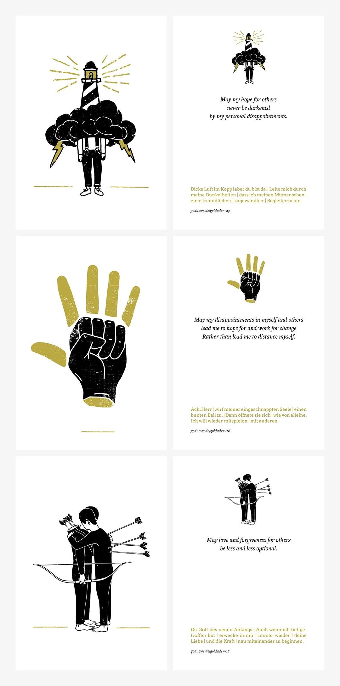 Kartenset »Goldader« – Galerie