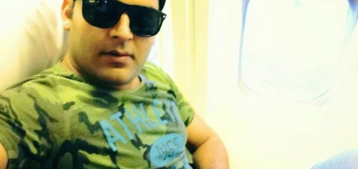 Kapil Sharma in a Flight