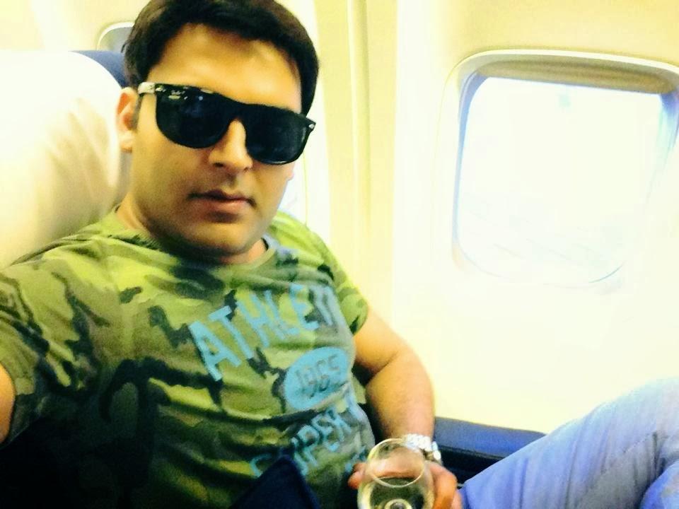 Kapil Sharma in a Flight