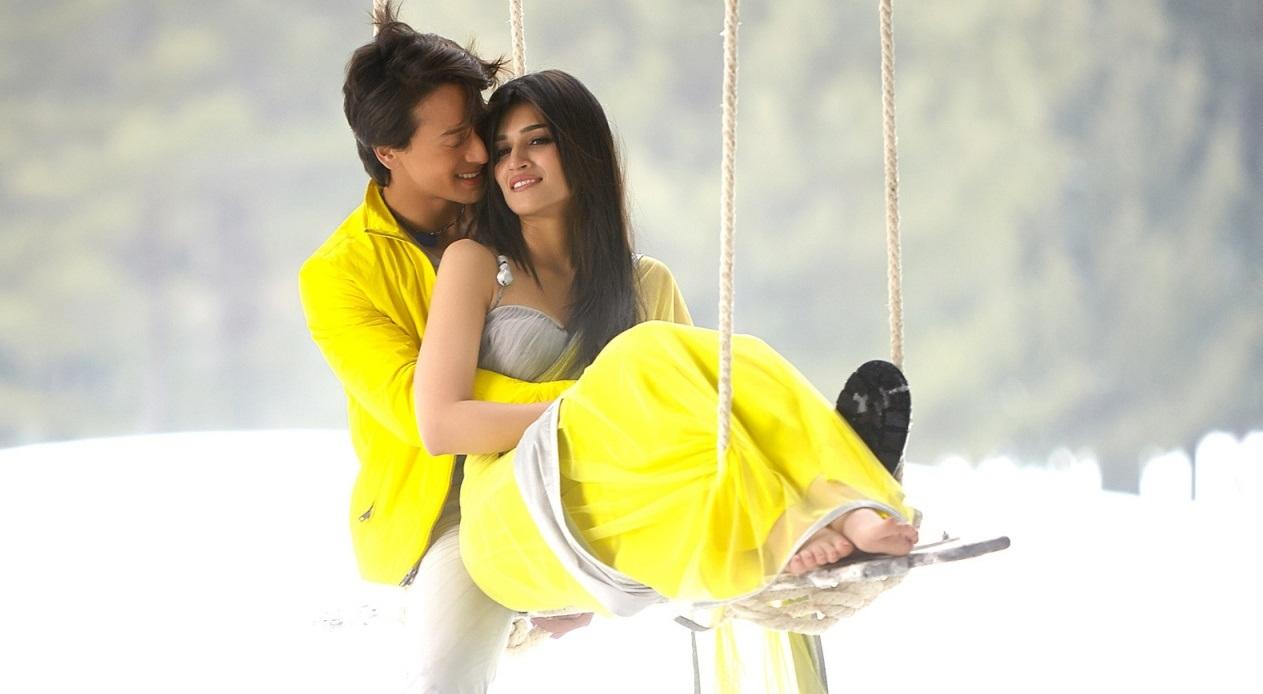 Tiger Shroff with Kriti Sanon