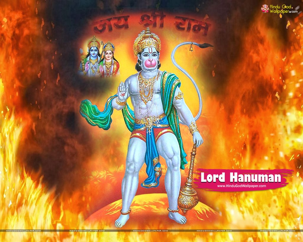 Lord Hanuman Pictures with Rama & Laxman