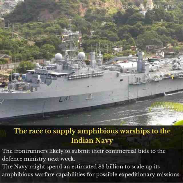 Amphibious Warship soon to be serve Indian forces This warshiphellip
