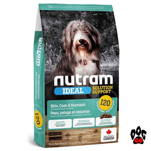 Корм для собак с чувствительным желудком NUTRAM Ideal Solution Support I20, холистик с ягненком 11.4кг (206 грн. за 1кг)
