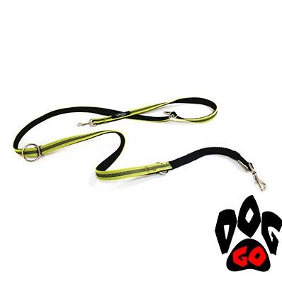 Поводок для дрессировки собак CROCI HIKING ANTISHOCK (напоясный или наплечный), нейлон, 2.5х200см